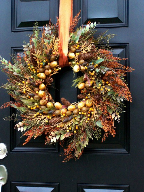 fall wreath front door